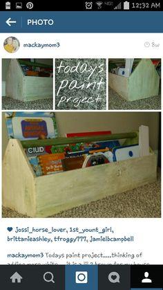 Old-toolbox turned book holder-