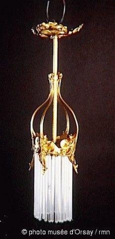 Musée d'Orsay, two light chandeliers, sale Arcola, Drouot Richelieu, June 28, 1989 (lot 222).