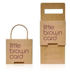 Bloomingdale's Little Brown Card gift card packaging by Burgopak Packaging, via Flickr
