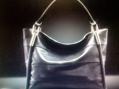 Genuine Leather Handbag/ Black