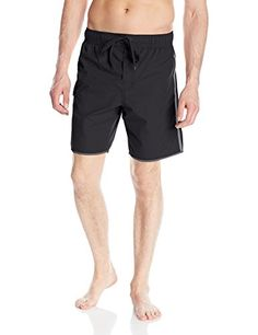 Laguna Mens Swimmer 875 Inch Swim Trunk Black XXLarge *** Check this awesome product by going to the link at the image.