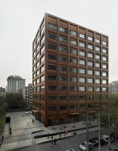 David Chipperfield's Moganshan Road office building features an all-copper facade.