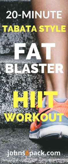 Blast away fat with this quick 20 minute Tabata style HIIT Workout!