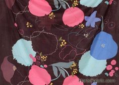 Nani Iro Waltz Floral Imported Double Gauze Fabric Plum