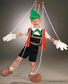 Child's Pinocchio Puppet Costume - Candy Apple Costumes - Kids' Deluxe Costumes