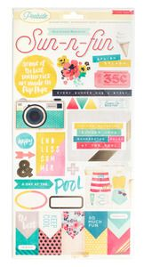 Pre-Order > Poolside Gold Foil Accent Stickers - Crate Paper: A Cherry On Top