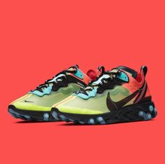 More Nike React Element 87 colorways are in the works for early This  Volt Racer Pink edition is dropping soon! For a closer look f8ba142e4