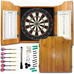 9 Games Ideas Dart Board Dart Board Cabinet Bristle Dartboard