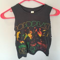 coldplay concert shirt from 2012 Tops