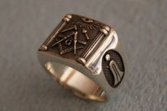 Masónica plata 925 anillo de masones / hecho a por silverzone88