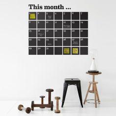 Ferm Living - Kalender wallsticker