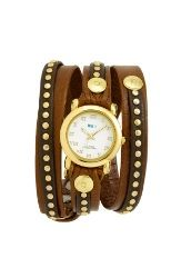For Mother's Day? La Mer Collections 'Bali' Gold Studded Leather Wrap Watch  $128.00