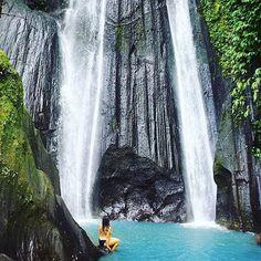 The stunning Dusun Kuning waterfall in Bangli