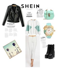 """Shein :)"" by azradesing ❤ liked on Polyvore featuring Betsey Johnson and Whiteley"