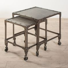 https://thespotteddoor.com/products/industrial-steel-nesting-side-tables?utm_campaign=Pinterest Buy Button