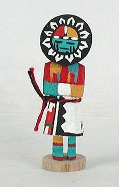 Native American Hopi Sun God kachina doll by Loretta Multine