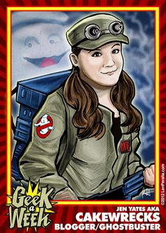 Jen Yates of CakeWrecks and Epbot fame, now with her own Geektastic trading card :)