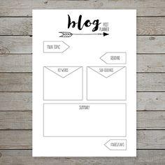 Printable blog post planner sheet to fit bullet journal