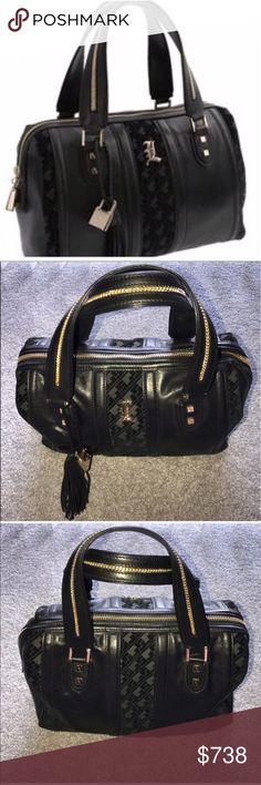 L.A.M.B by Gwen Stefani Verona Satchel Bag EUC L.A.M.B by Gwen Stefani Verona Satchel Bag EUC, see photos. BLACK/GOLD L.A.M.B. Bags Satchels