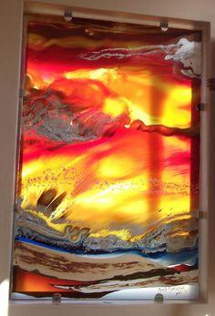 glass panel  2.6m x 1.8m  'bring back the sunshine'