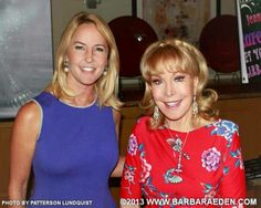 Barbara Eden and one of the Murphy twins who played the baby girl Tabatha in Bewitched. The Murphy twin is now 50 years old!
