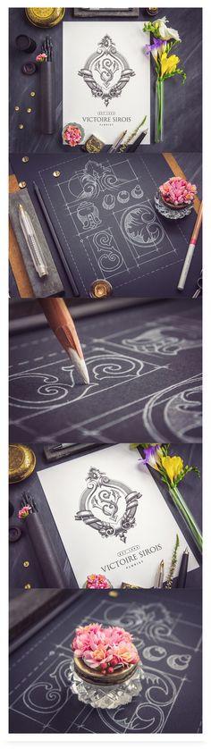 Victorian design element to frame graphics