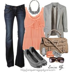 Grey and coral, like it