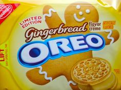 Gingerbread Flavor Creme Oreos ~ Limited Edition