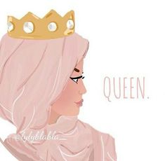 Hijab Drawing : Queen and hijab afbeelding