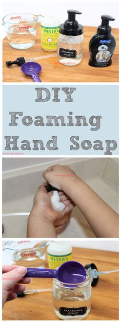 DIY foaming hand soap is so easy to make and takes less than 5 minutes to whip up. It only contains 2 ingredients and can be made for practically nothing! Soap Making Recipes, Soap Recipes, Mousse, Foaming Hand Soap Dispenser, Essential Oil Supplies, Soap Supplies, Liquid Hand Soap, 2 Ingredients, Diy For Kids