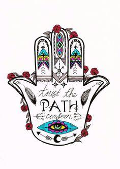 Trust The Lath Unseen  #hasma #boho #hand #art #hasmahand