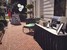 Beautiful outdoor espresso catering session for a wedding at The Duke Mansion in Charlotte, NC.