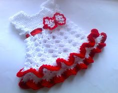 Baby Christmas outfit gift for kids babies White by paintcrochet