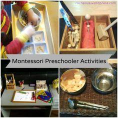 Montessori activities for preschoolers (Racheous)