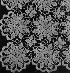 23 New Ideas Crochet Doilies Tablecloth Free Pattern Crochet Stars, Thread Crochet, Filet Crochet, Crochet Motif, Crochet Doilies, Knit Crochet, Crochet Flower Tutorial, Crochet Flower Patterns, Crochet Stitches Patterns