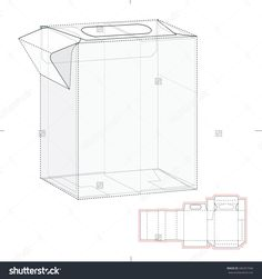 Dispenser Box With Die Cut Template Stock Vector Illustration 346357346 : Shutterstock