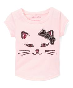This Colette Lilly Rose Shadow Kitten Face Tee - Toddler & Girls by Colette Lilly is perfect! #zulilyfinds