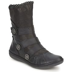 Mid boots Dkode NAAMIE Black - Free Delivery with Spartoo.co.uk ! - Shoes Women £ 86.44