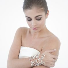 Maine pearl bridal cuff by Leigh-Anne McCague