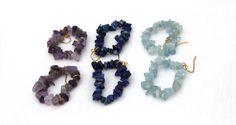Stunning Hoop Stone Chips Earrings Bridesmaid by BeDazzlingMoi, Stone Chips, Bridesmaid Earrings, Beautiful Earrings, Hoop, Special Occasion, Stud Earrings, Trending Outfits, Unique Jewelry, Handmade Gifts