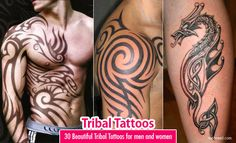 30 Beautiful and Creative Tribal Tattoos for men and women. Read full article: http://webneel.com/tribal-tattoos-for-men | more http://webneel.com/tattoo | Follow us www.pinterest.com/webneel