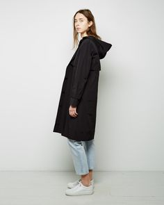 T BY ALEXANDER WANG Tech Poplin Suiting Hooded Trench
