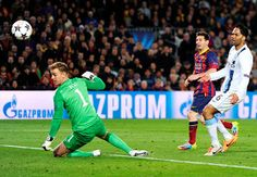 myhopeconnect - Messi raises the roof as City bow out Wednesdays Champions League in pics.3 13 2014