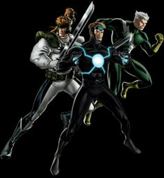 X-Force - Shatterstar, Havok and Quicksilver  ...°°