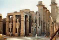 This looks so badass. I pray I see this before the fakeness in Las Vegas, haha... Luxor Temple, Egypt.