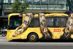 Campaña publicitaria creada para este zoológico de Copenhague en Dinamarca.