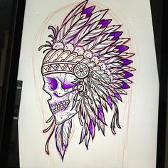 This guy is up for grabs. #skull #skulltattoo #skulldrawing #nativeamerican #native #nativetattoo #headdress #feather #feathers #natives #nodapl #ipad #ipadpro #sketch #draw #drawing #art #artist #bodyart #pacificbeach #sandiego #skulls #redskins #navajo #apache #socal #westcoast #cali #california #pma #pacificbeachlocals #sandiegoconnection #sdlocals #sandiegolocals - posted by Bennett Lammers  https://www.instagram.com/benzorama5000. See more post on Pacific Beach at…