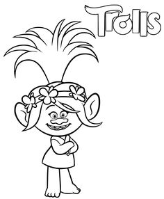 Find More Coloring Pages Online For Kids And Adults Of Trolls Poppy Troll To Print