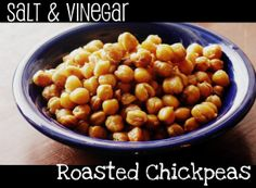 Salt & Vinegar Roasted Chickpeas...has to be a healthy replacement for salt & vinegar chips!