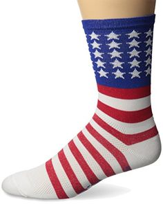 Defeet Aireator USA with Stars and Bars 5 Cuff Socks RedWhiteBlue Large ** Check out the image by visiting the link.